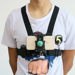 Chest Belt Strap Harness Mount phone holder Camera Headstrap Mount + Quick Clip for phone X02+S8
