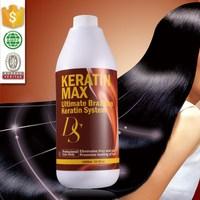 Gangzhou chocolate brazilian hair keratin product for damaged hair