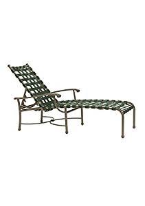Tropitone Sorrento Strap Chaise Lounge, Woodland/Moab