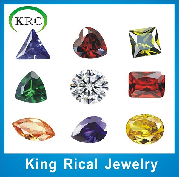 Hot sell different cut various colors cubic zirconia gems for jewelry