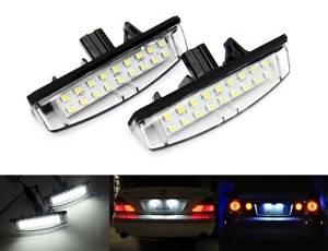 White LED License Plate Light Kit 2PCS Fit For Lexus IS IS300 IS200 (GXE10/JCE10) ES ES300 ES330 (MCV30) GS GS300 GS400 GS430 (JZS160/UZS161) LS LS430 (UCF30) RX RX330 RX350 RX400h (MCU30/GSU35) CT CT200h (ZWA10) HS HS250h (ANF10)