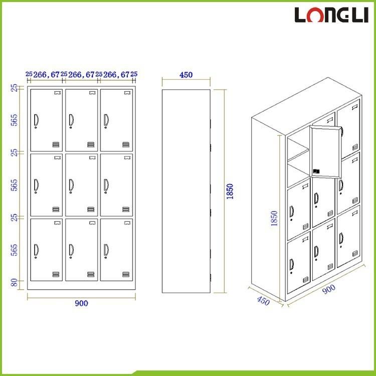 Door clothing steel locker school storage metal