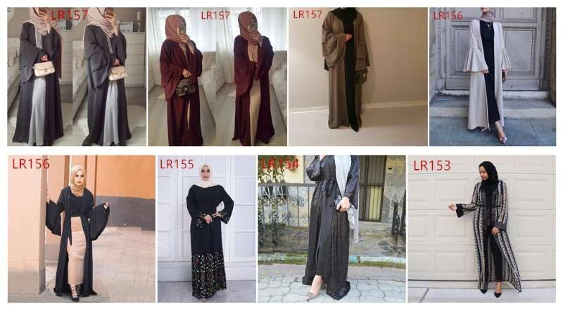 New 2019 Spring Fashion Women Islamic Chiffon Long Maxi Pleated Skirts