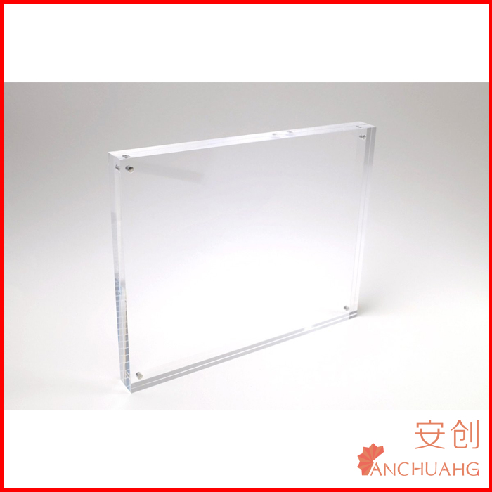 Double Sided 8x10 Acrylic Magnet Block Frames Each 0.45 Inch Thick ...