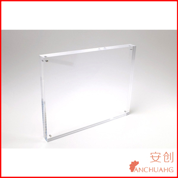 Double Sided 8x10 Acrylic Magnet Block Frames Each 045 Inch Thick