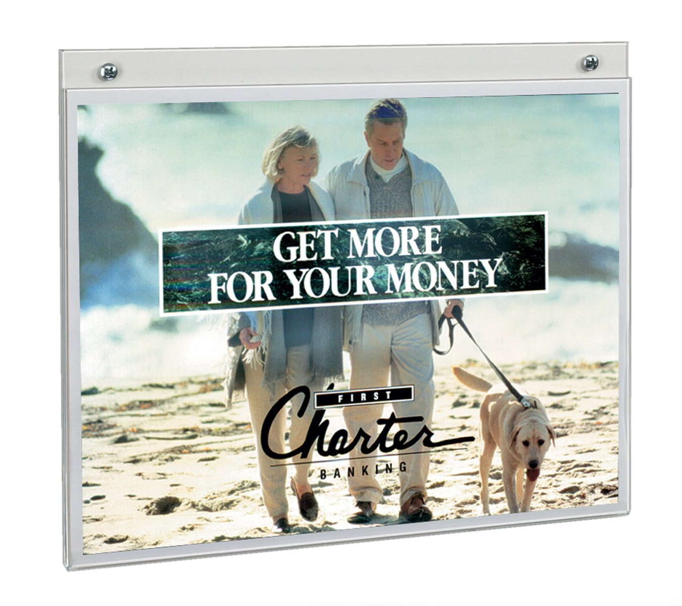 Displays2go Clear Acrylic 11 X 8.5 Wall Mount Sign Holders, 10 Pack (FL1185)