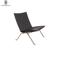 Wholesale mdoern classic famous leather PK22 easy chair with steel base