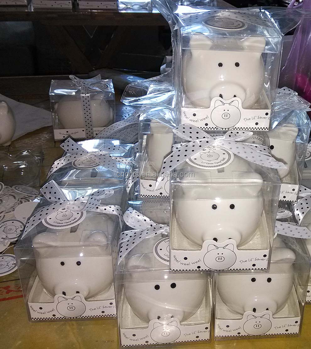 wholesale lovely baby shower return gifts ceramic piggy bank coin, Baby shower