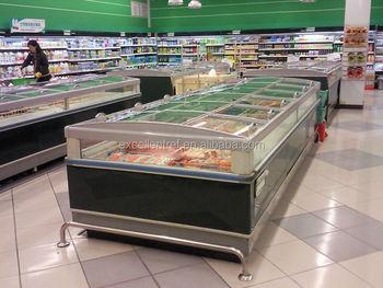 Kühlschrank Vitrine : Supermarkt insel meeresfrüchten und fleisch vitrine kühlschrank