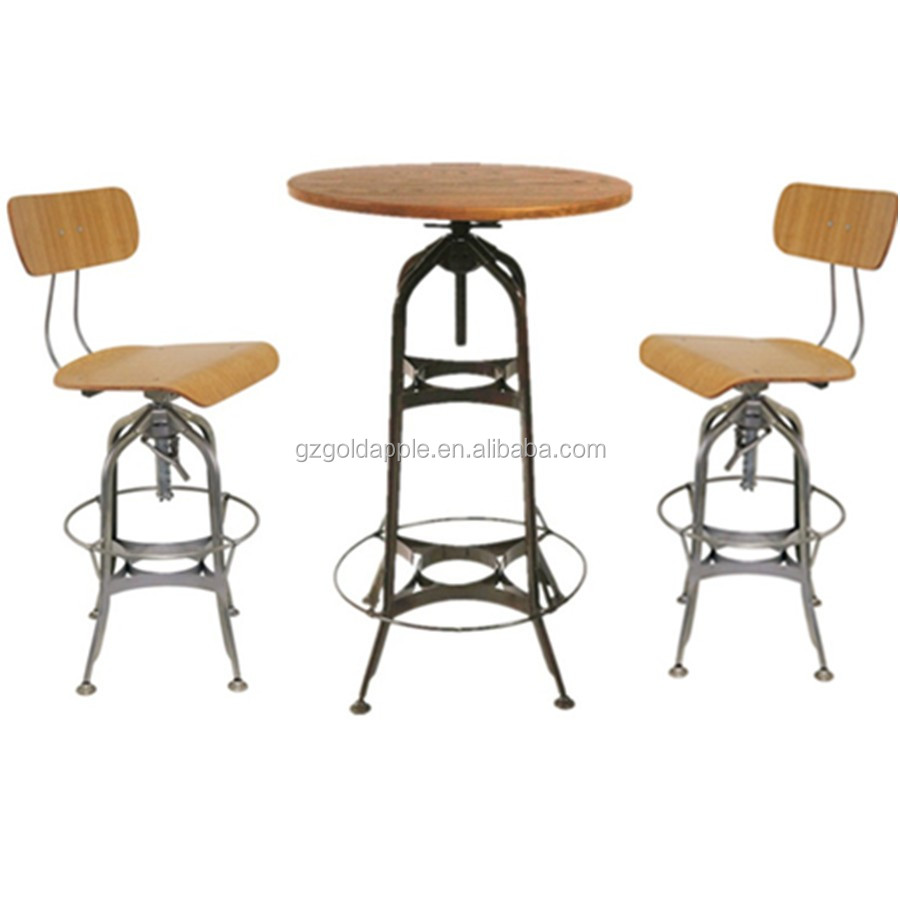 Industrial High Top Table: Commercial Industrial Bar High Top Table And Chairs,Bar