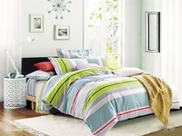 hotsale pigment print cotton New york city life duvet cover quilt bedskirt comforter flat sheet set