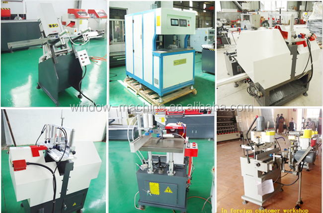 UPVC windows double side corner clean seamless welding machine
