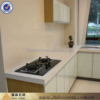 Prefabricated Man Made White Quartz Kitchen Artificial Stone Countertop
