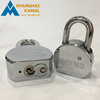 65mm/75mm Standard Hardened Shackle Round Steel Padlock with 3 Keys