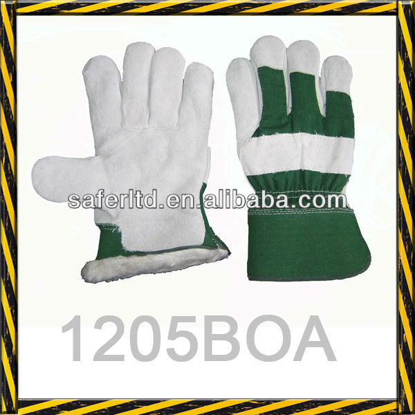 1205b0a Safety Leather Work Gloves