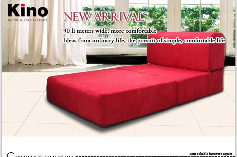 Mordern Folding Sofa In Living Room Furniture And Floor Seating Red Fabric  Lazy Sofa Bed For