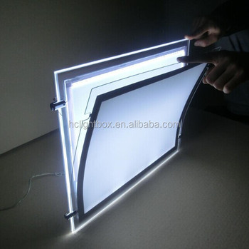 Ceiling Hanging Poster Frame Led Light Window Display Buy Ceiling