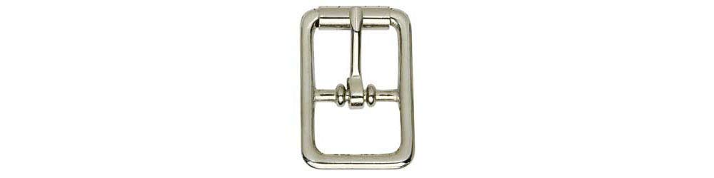 "Tandy Leather Center Bar Roller Buckle 1"" (25 mm) Nickel Plated 1512-10"