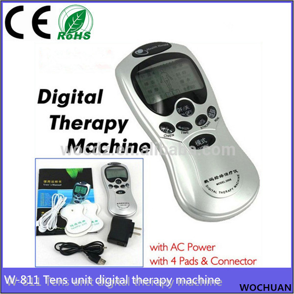 4 electrode health pulse body digital acupuncture physiotherapy machine health herald digital therapy machine with manual