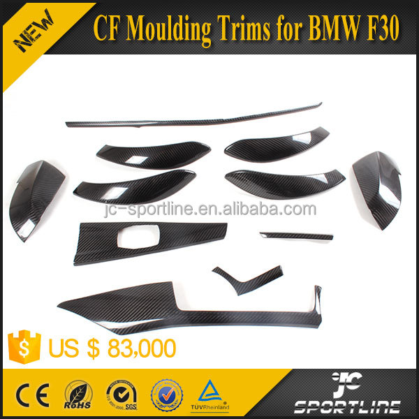 Car Carbon Fiber Interior Moulding Trims for BMW F30 LHD