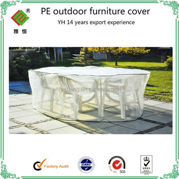 Clear Plastic Pe Outdoor Furniture Covers Reach Standard