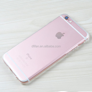 DFIFAN Wholesale phone case for iPhone 6s ,ultra thin transparent cover ,clear tpu case for iphone 6 4.7 inch