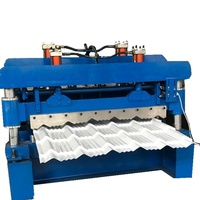 Color metal glazed tile roofing sheet making machine with 3D effect