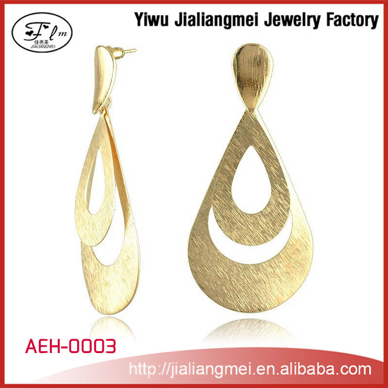 Unique Gold Filled High Quality Zinc Alloy Hoop Earrings for Women
