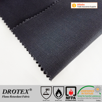 Cotton Polyester Fireproof EN11611 EN11612 Carbon antistatic anti-acid fabric