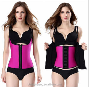 Zipper&Hook Row Women Black No Latex Waist Training Corset Vest without Steel Bone Waist Cincher sexy Neoprene underwear corset