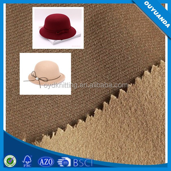 China Fabric Market Wholesale Imitation Cashmere Velvet Fabric Hat Material