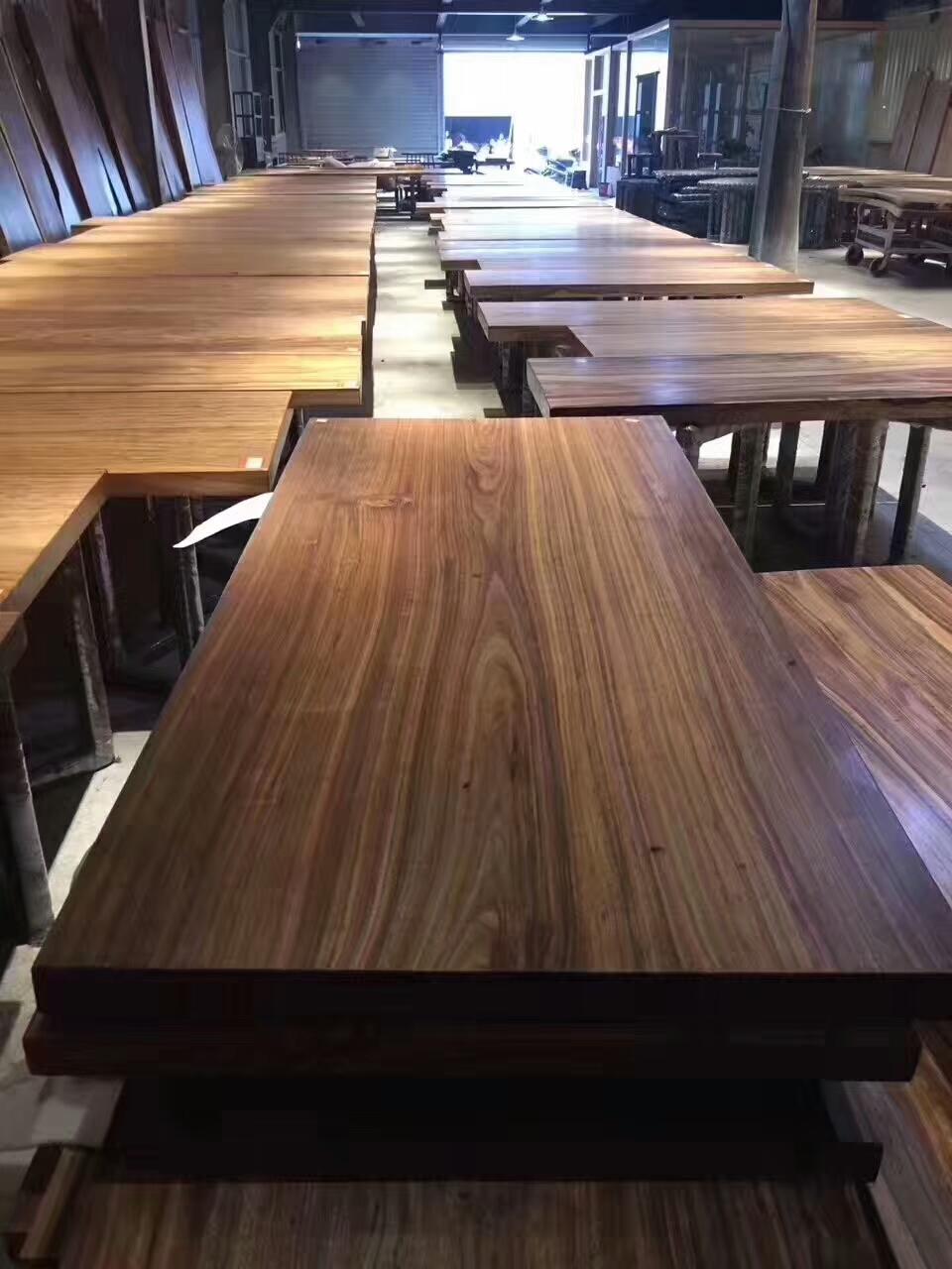 2017 Natural Zebra Wood Slab Table Furniture For Dining Top