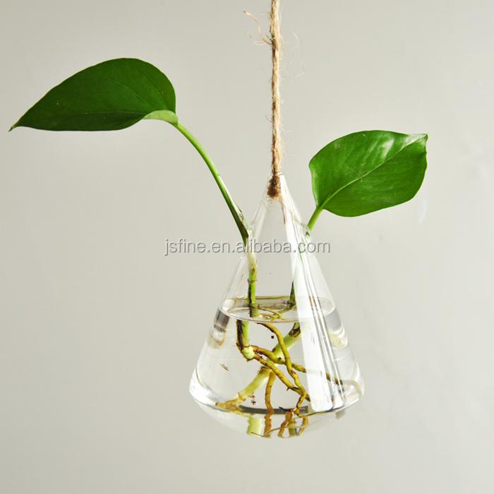 Cone Shape Hanging Glass Terrarium Plant Vase Buy Hanging Glass