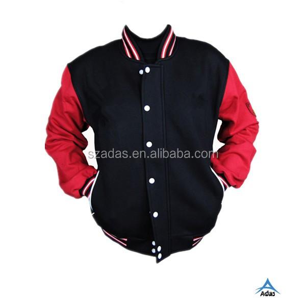 Stylish Printing Custom Made Baseball Jacket Leather Sleeves - Buy ...