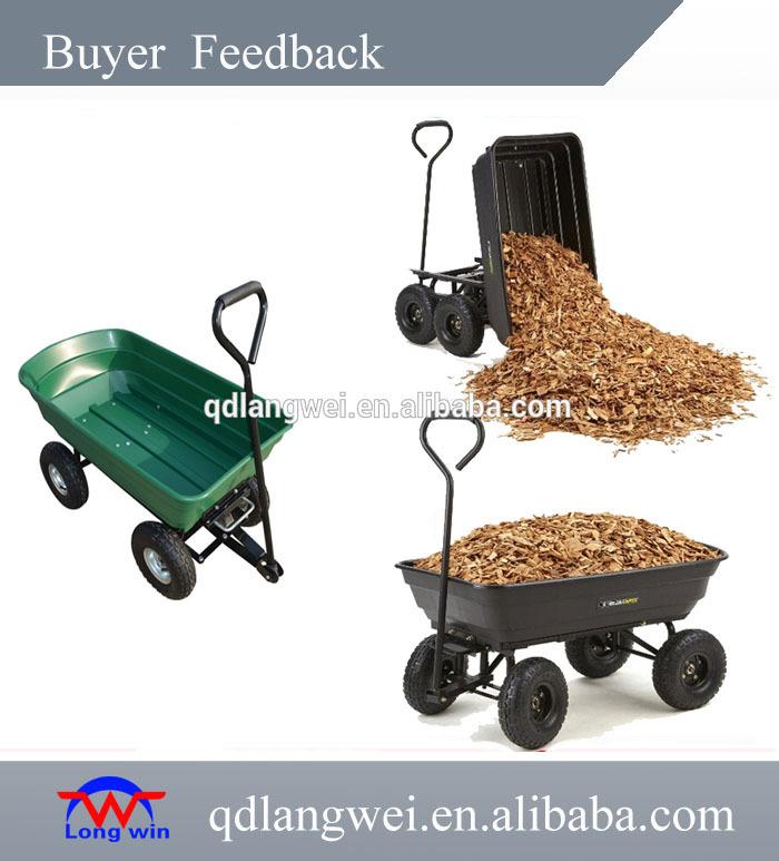 Heavy Duty Wheelbarrow Garden Mesh Cart Trolley Utility Cart Tipper Dump 4 Wheel