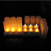 flameless rechargeable flickering light LED Tea Light Candle