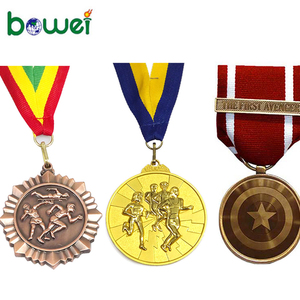wholesale custom printed cheap sublimation Antique 3d bulk metal gold Winner award trophy running sports medal