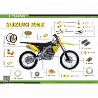 Cheap aluminum motorcycle spare parts for Suzuki dirt bike