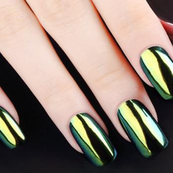 12pcs Set Nail Mirror Powder Effect Glitter Charming Color Gel Polish