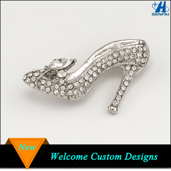 1300af9f0753a Silver Gold Tone High Heel Shoe Rhinestone Brooch Cinderella Crystal Shoe  Brooches - Buy Crystal Shoe Brooches,High Heel Shoe Rhinestone ...