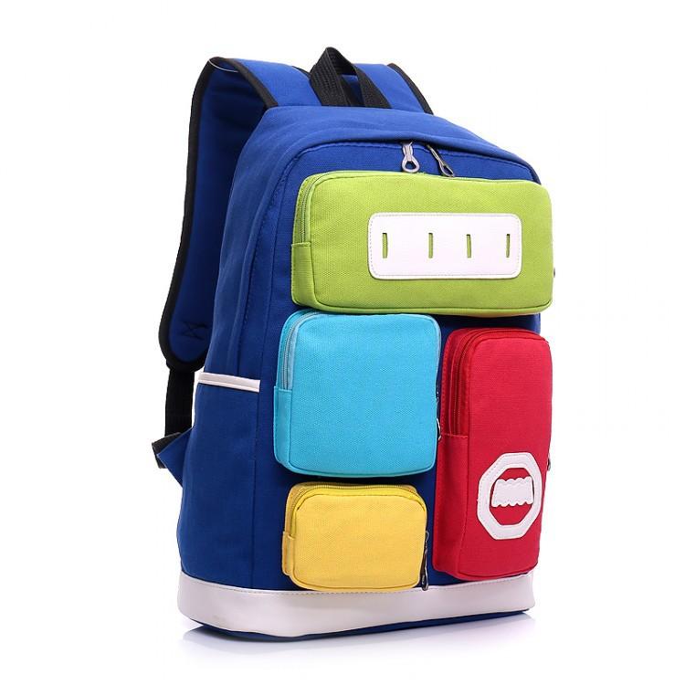 323861405afb Get Quotations · ShineStar Fashion Hit Color Patchwork Canvas Backpacks  2015 New Students School Big Bag Travel Computer Shoulder