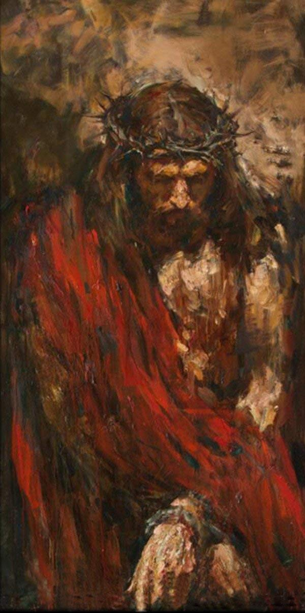 Osm Art Handmade Abstract Portrait Paintings Modern Large Artwork Wall Decor Hand-painted Canvas Jesus Christ Figure Knife Oil Paintings