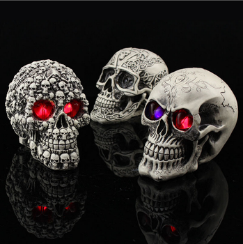 wholesale halloween decorations resin skulls halloween plastic skulls