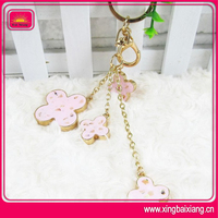Beautiful bag charm for metal keychain