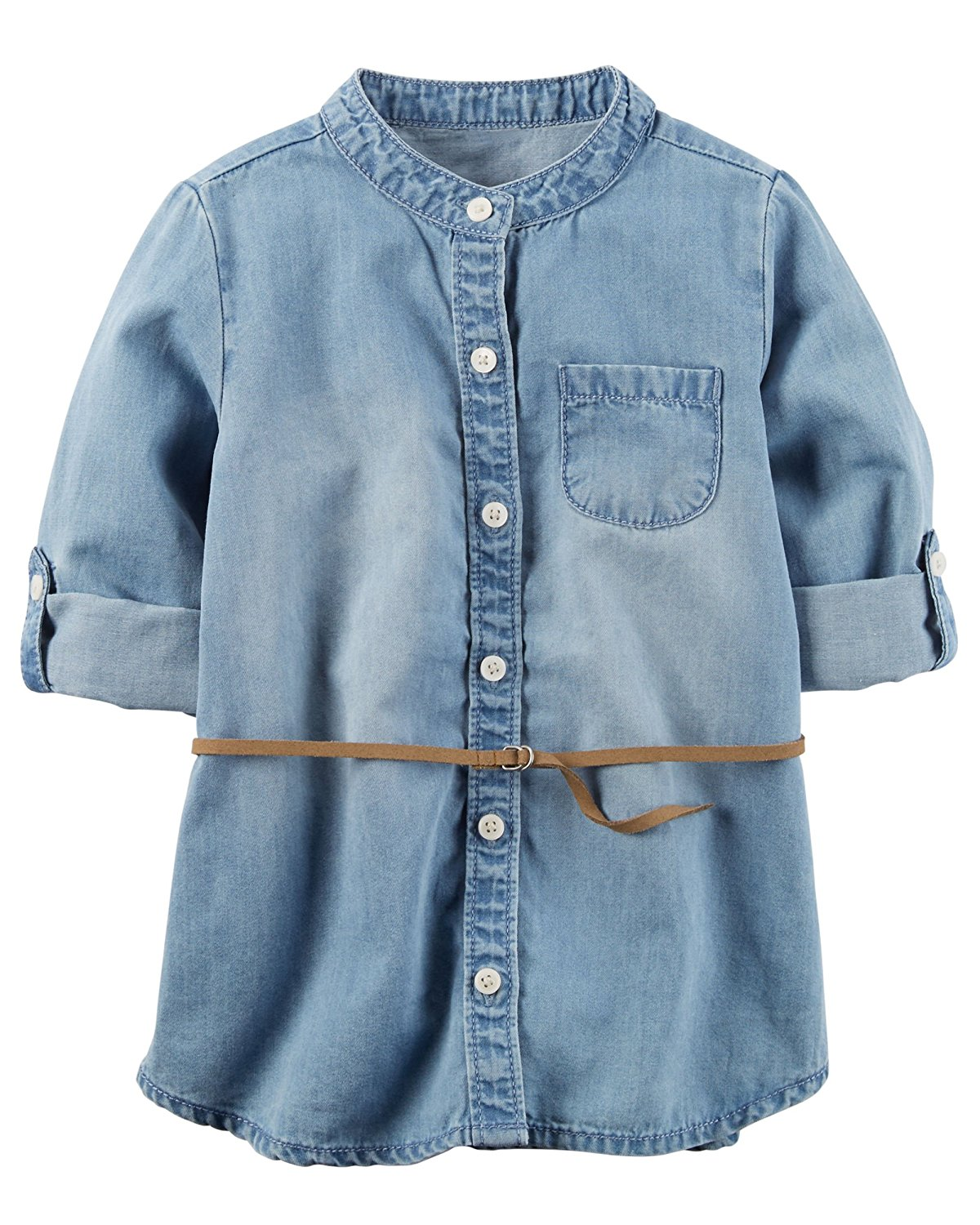 9bcf4adcaf Get Quotations · Carters Toddler Girls Chambray Tunic 5T Blue