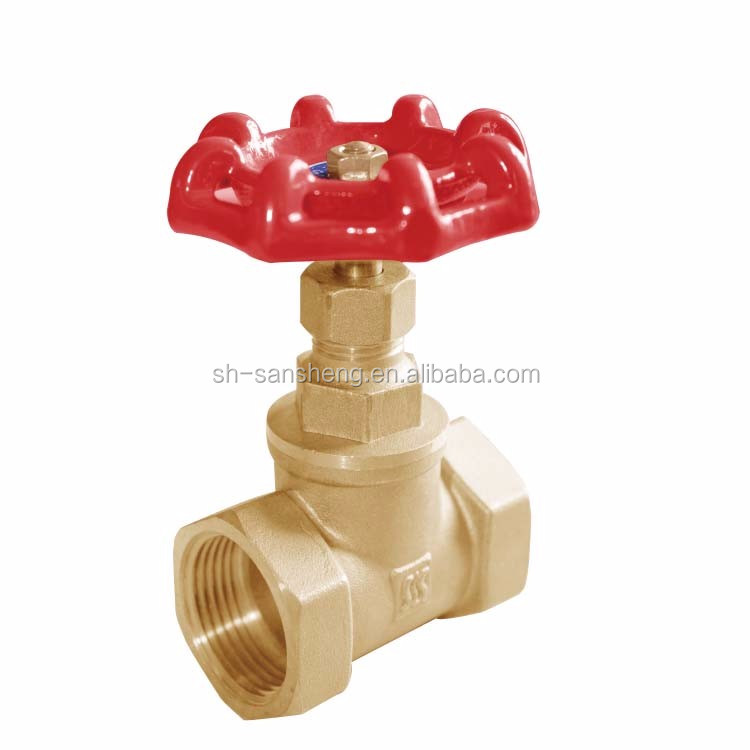 Big business gear operated forged handwheel rising stem brass gate valve