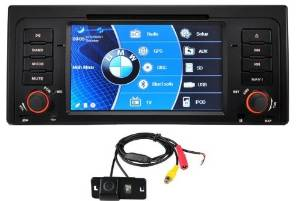 """Sino 7"""" Wide Screen Samsung CPU BMW E39 E53 5 Series M5 X5 X5 M DVD GPS Navigation Canbus Steering Control Bluetooth Stream USB Sd Card Comes with OEM Look Rear View Camera !!! Easy Installation. Supports Premium Audio System Including Harman Kardon. Free Map for Usa Canada Mexico ( Optional Europe"""