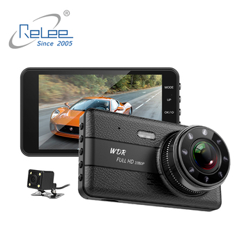 Car camera recorder, HD 1080P dash cam 4 inch screen camera car, car dvr with Night Vision WDR G-Sensor Parking Monitor dashcam