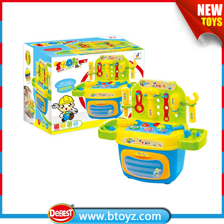 Plastic Bricolage Toy Mechanic Tool Set for Kids