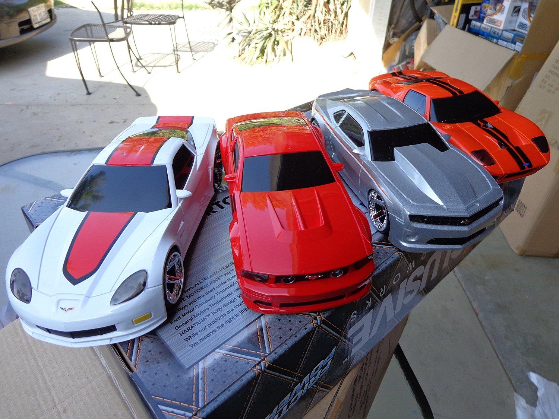 Pack of 4 American Sport Cars of GM &Ford Corvette/Camaro/Mustang/GT Sport